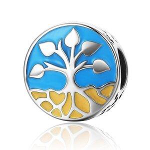 Talisman din argint Blue Tree