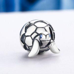 Talisman din argint Blue Turtle