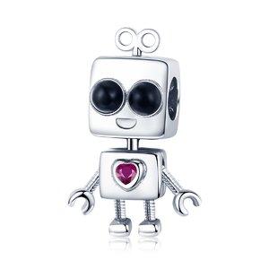 Talisman din argint Boy Robot
