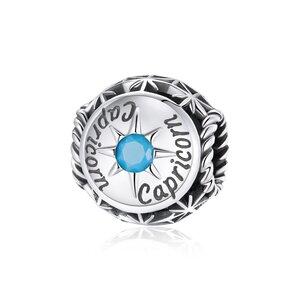 Talisman din argint Capricorn Zodiac Sun