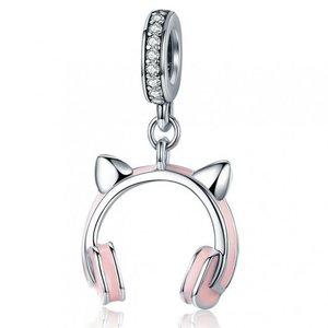 Talisman din argint Cat Earphone