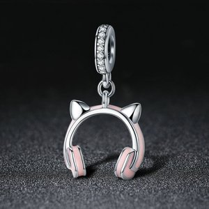 Talisman din argint Cat Earphone