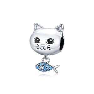 Talisman din argint Cat & Fish