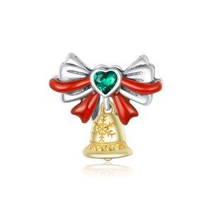 Talisman din argint Christmas Golden Bell