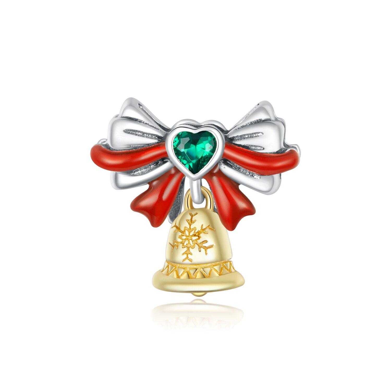 Talisman din argint Christmas Golden Bell poza 2021