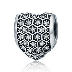 Talisman din argint Clear Crystal Heart
