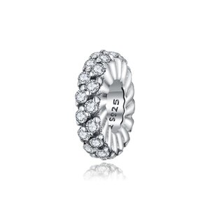 Talisman din argint Clear Crystals Band