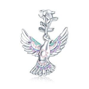 Talisman din argint Colored Pigeon