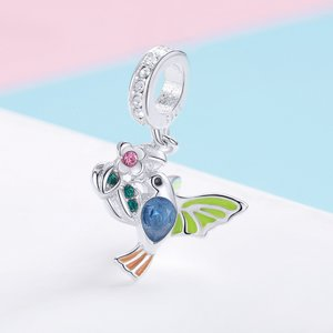 Talisman din argint Colorful Bird