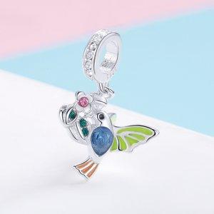 Talisman din argint Colorful Bird