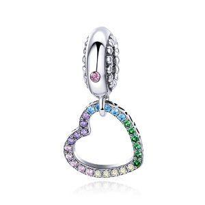 Talisman din argint Colorful Dangle Heart