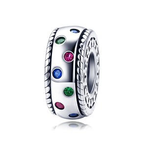 Talisman din argint Colorful Spacer Charm
