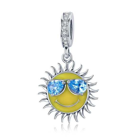 Talisman din argint Cool Yellow Sun