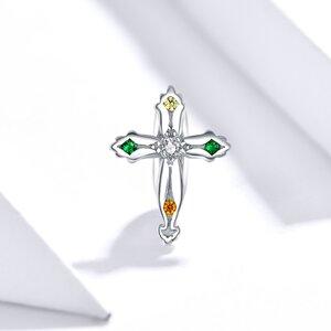 Talisman din argint Cross Bead