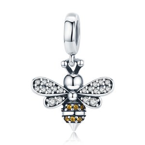 Talisman din argint Crystal Bee