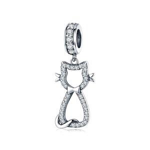 Talisman din argint Crystal Bow Tie Cat