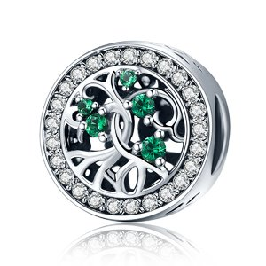 Talisman din argint Crystal Green Tree