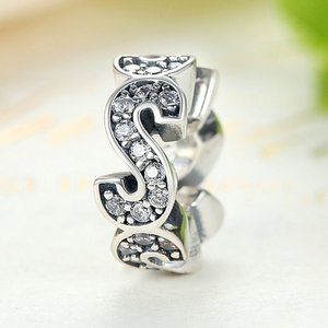 Talisman din argint Crystal Letter