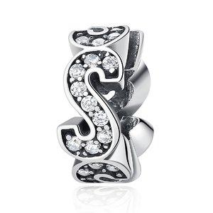 Talisman din argint Crystal Letter S
