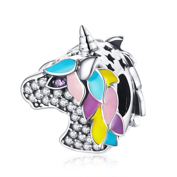 Talisman din argint Crystal Licorne