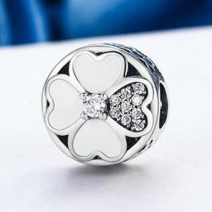 Talisman din argint Crystal Love Clover