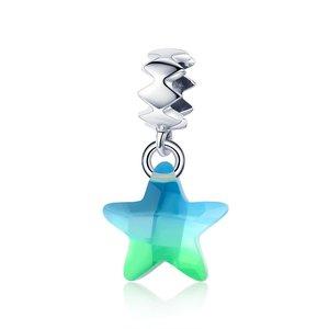 Talisman din argint Crystal Lucky Star