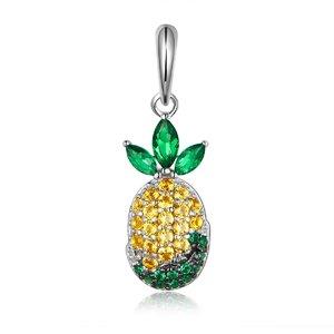 Talisman din argint Crystal Pineapple