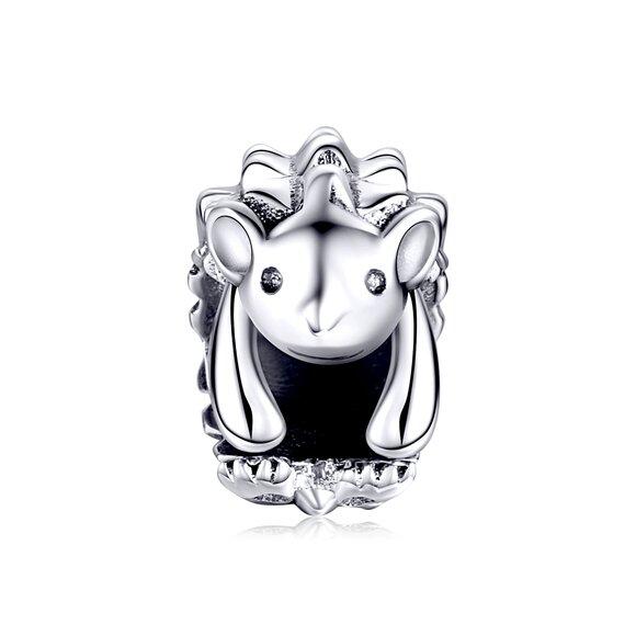 Talisman din argint cu Arici