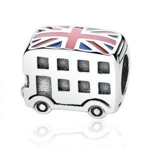 Talisman din argint cu Autobuz UK