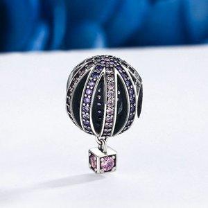 Talisman din argint cu Balon si Cristale colorate