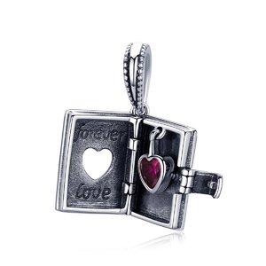 Talisman din argint cu Carticica Forever in Love