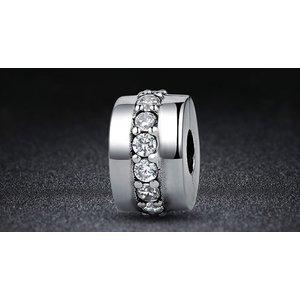 Talisman din argint cu Clips si Cristale