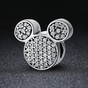 Talisman din argint cu Clips si Mickey Mouse