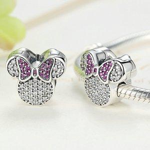 Talisman din argint cu Clips si Minnie Mouse