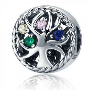 Talisman din argint cu Copacel si Cristale colorate