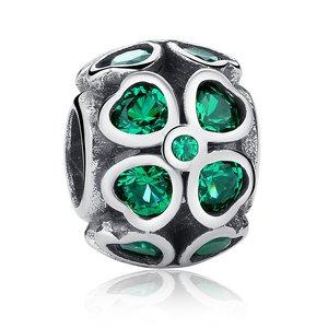 Talisman din argint cu cristale Floare de Smarald