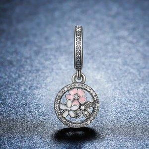 Talisman din argint cu Cristale si Flori Colorate