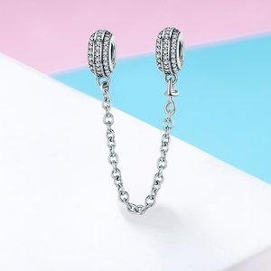 Talisman din argint cu Cristale si Lantisor de Siguranta