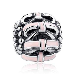 Talisman din argint cu Fundite Roz