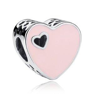Talisman din argint cu Inima Colorata
