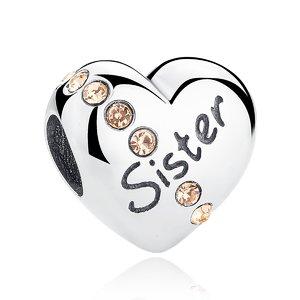 Talisman din argint cu Inima pentru Surioara Mea