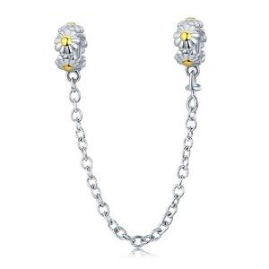 Talisman din argint cu Lantisor de siguranta Daisy Flower