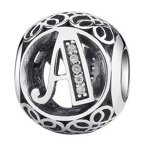 Talisman din argint cu litera A