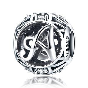 Talisman din argint cu Litera A si cristale