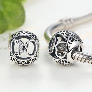 Talisman din argint cu litera K