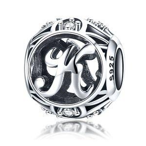Talisman din argint cu Litera K si cristale