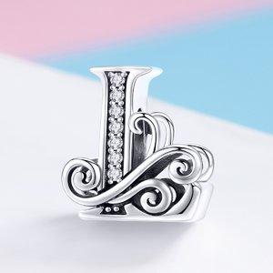 Talisman din argint cu Litera L din Poveste