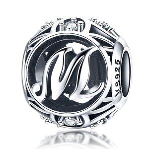 Talisman din argint cu Litera M si cristale