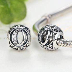 Talisman din argint cu litera O