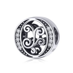 Talisman din argint cu Litera O din Poveste